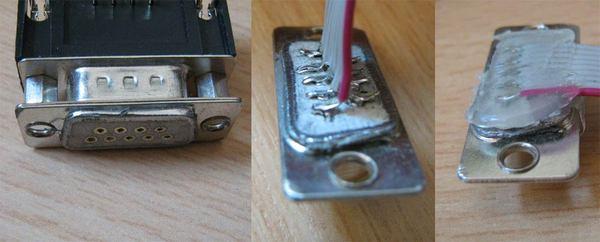 sehr kurzer RS232 Stecker