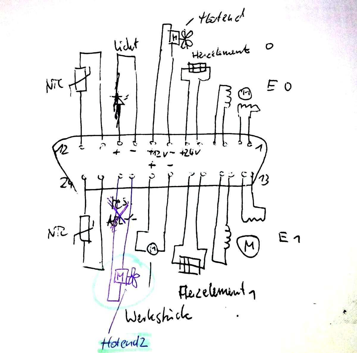 dual extruder und gesteuerte l u00fcfter am ramps 1 4 mit repetier firmware  1